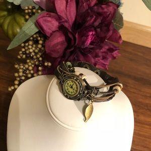 Jewelry - ✨Clearance✨ Leather watch bracelet